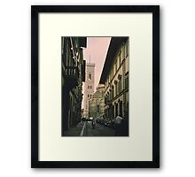 Backstreets of Florence, Italy Framed Print