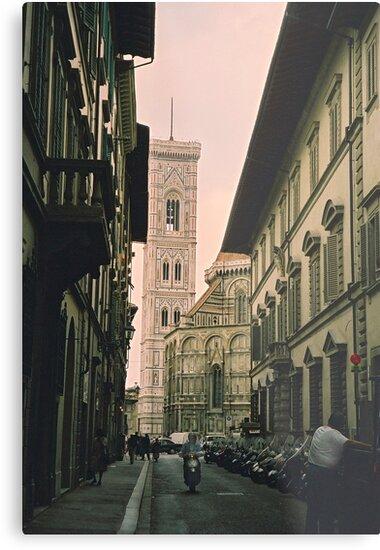 Backstreets of Florence, Italy by Elana Bailey