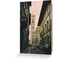 Backstreets of Florence, Italy Greeting Card