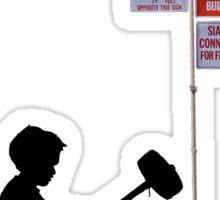 Banksy Hammer Boy Sticker