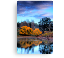 Autumn colours and reflections, Adelaide Hills Canvas Print