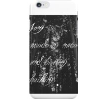 Murder of The Natural World iPhone Case/Skin