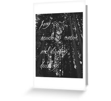 Murder of The Natural World Greeting Card