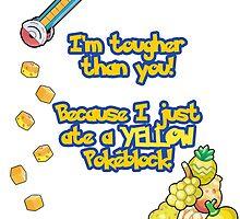 Yellow Pokeblock Pokemon Design by Amy Joy