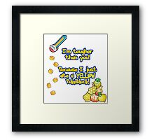 Yellow Pokeblock Pokemon Design Framed Print
