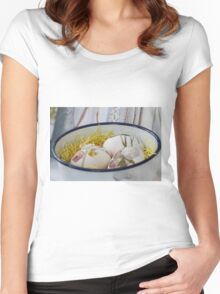 easter eggs Women's Fitted Scoop T-Shirt
