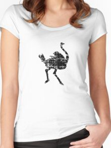Ostrich Vintage Women's Fitted Scoop T-Shirt