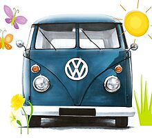 Spring Bus by Sharon Poulton