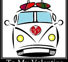 Valentines Bus by Sharon Poulton