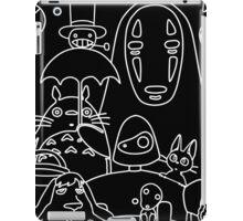 Ghibli in black iPad Case/Skin