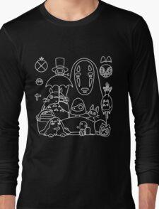 Ghibli in black Long Sleeve T-Shirt