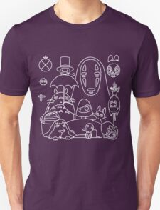 Ghibli in black Unisex T-Shirt
