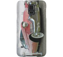 1957 Pink Cadillac at the Drive In. Samsung Galaxy Case/Skin