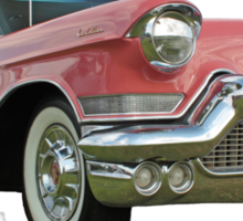 1957 Pink Cadillac at the Drive In. Sticker