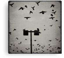Revenge of the Birds Canvas Print