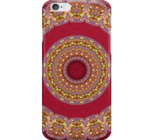 Red Gold Yellow rosettes Mandala iPhone Case/Skin