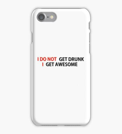 Awesome Drunk Party Time Funny Gift iPhone Case/Skin