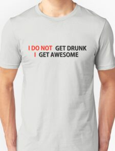 Awesome Drunk Party Time Funny Gift T-Shirt