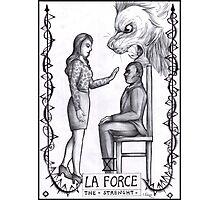 Hannibal tarots - La force - BW Photographic Print