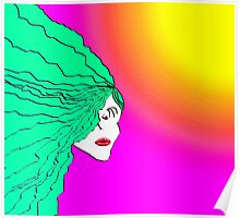 Lady Green Psychedelic Poster