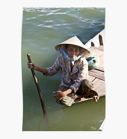 Old Woman River (Hoi An, Viet Nam) Poster