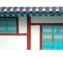 Korean White Photographic Print