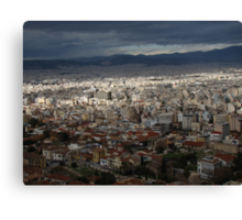The Splendor Of Athens Canvas Print