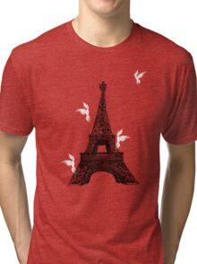 tower birds Tri-blend T-Shirt