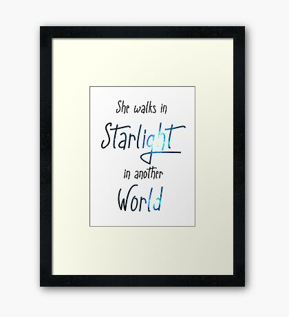 It was just a dream... Framed Print