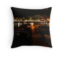 Boat Park Throw Pillow