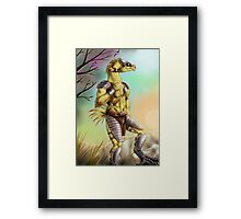 Anthro chocobo Framed Print