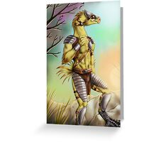 Anthro chocobo Greeting Card