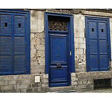 Doors n Shutters Blue Photographic Print