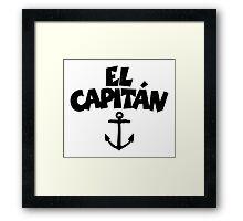 El Capitán Anchor Framed Print