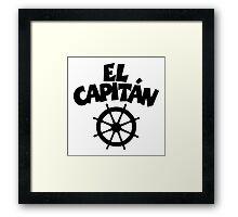 El Capitán Wheel Framed Print