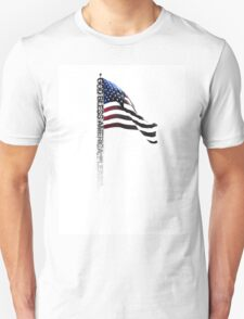 God Bless America Please - Typography Shirt Unisex T-Shirt