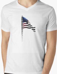 God Bless America Please - Typography Shirt Mens V-Neck T-Shirt