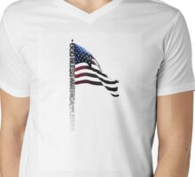 God Bless America Please - Typography Shirt Mens V-Neck T-Shirt