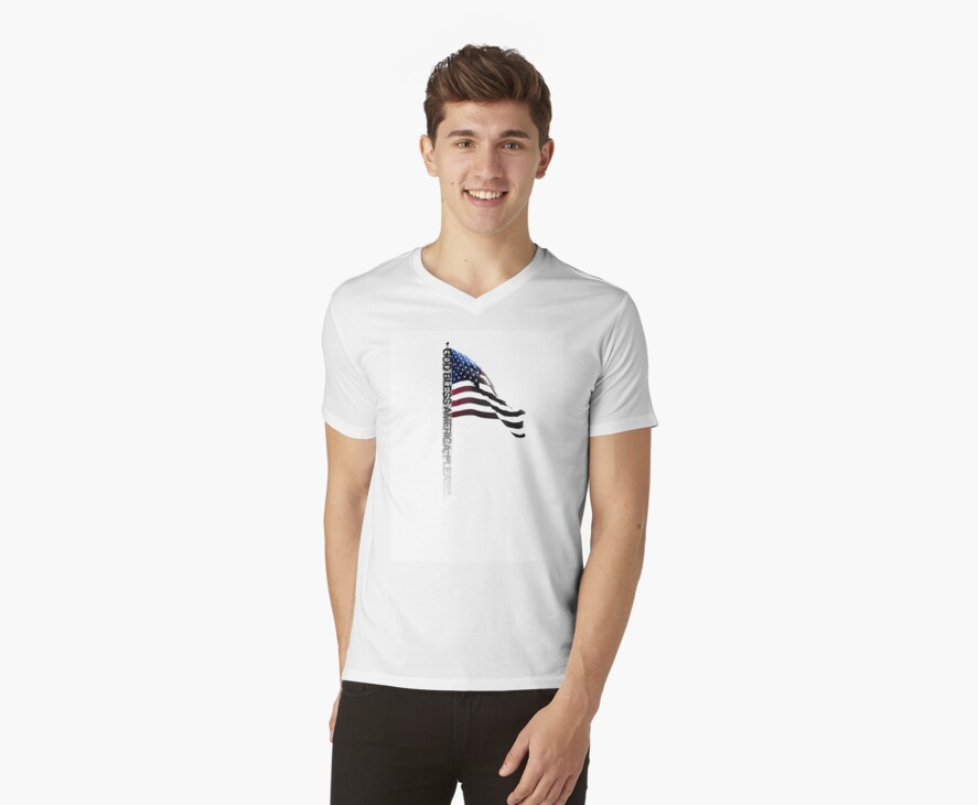 God Bless America Please - Typography Shirt by webart