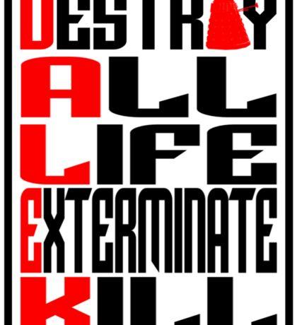 Dalek Manifesto Sticker