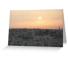 Jordan Sunset Greeting Card