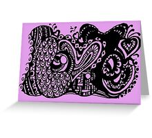 I Love You 2 Aussie Tangle - Choose your background colour - see description note.  Greeting Card