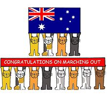 Marching Out Congratulations/Australia. by KateTaylor