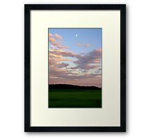 After The Storm- Moon Above Framed Print