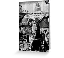 the book seller Greeting Card