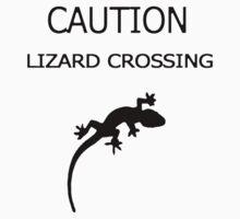 caution - lizard crossing by ch3rrybl0ss0m