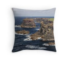 Cliffs of Esha Ness Throw Pillow
