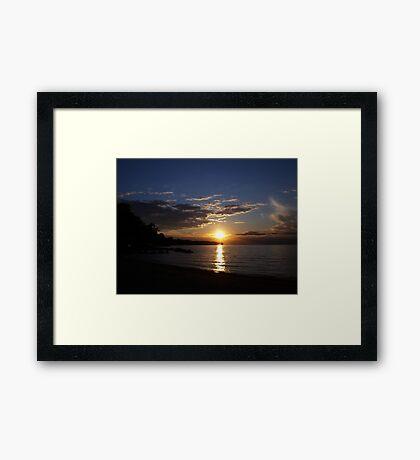 Sunset: Lake Erie II  Framed Print