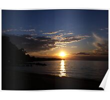 Sunset: Lake Erie II  Poster