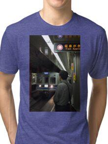 Train approaching, Tokyo, Japan Tri-blend T-Shirt